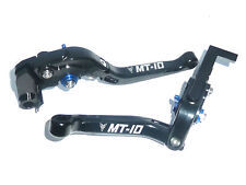 YAMAHA MT-10 2016 FOLDING BLACK BRAKE AND CLUTCH LEVER SET RACE TRACK ROAD S6ZD