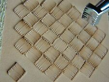Leather Stamping Tool - X506 Small Square Basket Weave Stamp