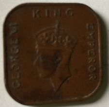 1941i Malaya KGVl 1 cent copper  old coin very high grade #2