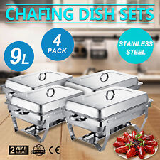 4 PACK CHAFING DISH SETS BUFFET CATERING KITCHEN DINING PARTY PACK FOOD WARMER