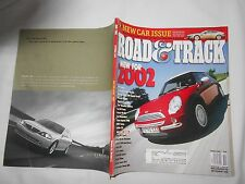 ROAD & TRACK-OCTOBER,2001-Magazine-NEW FOR 2002-MINI COOPER-MASERATI SPIDER