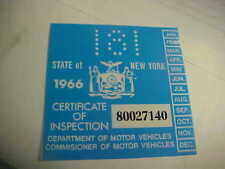 new york 1966 inspection sticker windshild