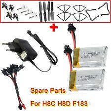 5en2 Chargeur+2x650mAh batterie+Accessoires Noir Pour JJRC H8C H8D F182 RC Drone