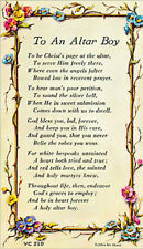 TO AN ALTAR BOY VERSE CARD - RELIGIOUS CATHOLIC STATUES CANDLES PICTURES LISTED