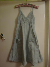 Pale Green Cotton Sleeveless Noa Noa Summer Dress in Size XS / Size 6 - 8 NWT