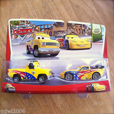 Disney World of Cars JOHN LASSETIRE & JEFF GORVETTE WGP 2014 2-PACK 5&6/15 Pixar