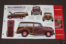 1948-1971 MORRIS MINOR (1953) Woody Car SPEC SHEET BROCHURE PHOTO BOOKLET