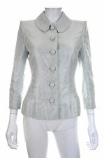 Catherine Walker London Seda Bordado Chaqueta/Menta/PVP: £ 2,250.00
