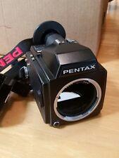 Pentax 645 Medium Format SLR Film Camera body and grip read
