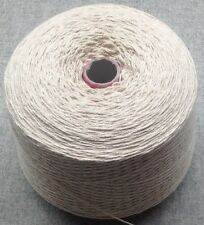 HUGE 1.9 kg 3 PLY Natural Undyed 100% Cotton Dishcloth Yarn.Weaving/Crochet/Knit