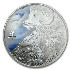 2015 Niue 1 oz Silver $2 Lunar Year of the Goat Colorized Coin - SKU #85158