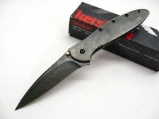 Couteau Kershaw Leek A/O BlackWash Acier D2 Manche Acier Made In USA  KS1660CBBW