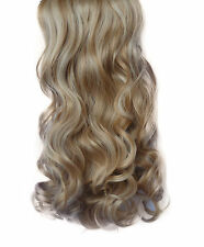 "20/22"" Clip in Hair Extensions CURLY Blonde Mix #18/613 FULL HEAD 8pcs"
