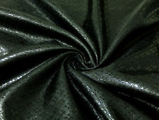 "BLACK BLING DIAMOND METALLIC LIGHT BROCADE FABRIC 44""W DECOR DRAPE DRESS"