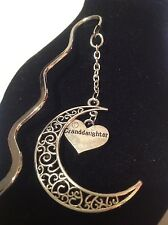 Granddaughter.. filligree book mark silver plated