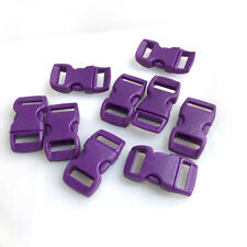 "12pcs 3/8"" Curved Side Release Plastic Buckle  for Paracord Bracelet  Purple"