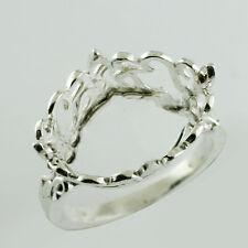Semi Mount Ring Oval Shape 12x16 MM 925 Sterling Silver Fabulous Woman Jewelry