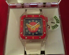 WONDER WOMAN: FLASHING DIAL ANALOG WATCH  CHILDREN'S WRISTWATCH BOXED WOW9007