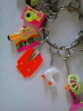 Keychain Toy Camera Fan Rollerskates Bike Boat Phone Suit Lot Plastic Pink Lime