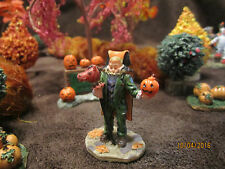 "TRAIN GARDEN VILLAGE HOUSE "" The HEADLESS HORSEMAN COSTUME "" +DEPT 56/LEMAX info"