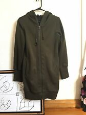 Y-3 Yohji Yamamoto Olive Green Zip Long Hoodie Jacket Unisex Neoprene Fleece  S