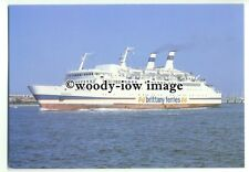 FE0027 - Brittany Ferries Ferry - Armorique leaving Portsmouth - postcard