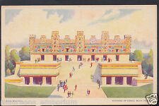 America Postcard - Chicago Fair - Nunnery of Uxmal, Maya Temple   BH5897