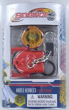 Beyblade HADES KERBECS Top Keychain Keyring w/ Launcher Ripcord NEW S7 masters