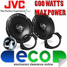 Vauxhall Astra J 10-14 JVC 17cm 6.5 Inch 600 Watts 2 Way Rear Door Car Speakers