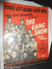 "The Gang Show - Ralph Reader 1950 Scout Sheet Music ""You'll Get Along Very Well"""