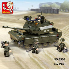 Sluban B6500 Army Battle Tank Vehicle Figure Building Block Toy lego Compatible