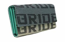 JDM BRIDE RACING GRADATION FABRIC TRIFOLD WOMENS WALLET LEATHER INTERIOR WALLET