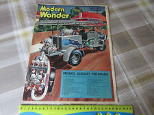 MODERN Wonder 17/09/1938 Aux FIRE Brigade Cover & Modern Steel Cover