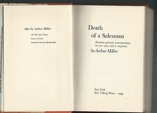 Death of a salesman by arthur miller march 1949 hc/dj book pre-release edition