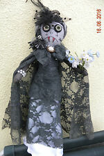 MARY COFFIN, HANDMADE  GOTHIC RAG DOLL,  OOAK DOLL, COLLECTORS DOLL, ART DOLL