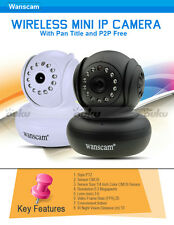 2016 Wanscam Wireless Day Night Vision WIFI IP Camera Pan Title Free DDNS HD