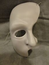 PHANTOM OF THE OPERA WHITE HALF MASK HALLOWEEN MASK PVC CHILD SIZE