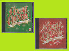 TIME LIFE Classic Country CHRISTMAS Volume 1 & 2 2003 Various Artists CD Lot
