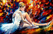 "Young Ballerina — Oil Painting On Canvas By Leonid Afremov. Size: 36""x24"" Ballet"