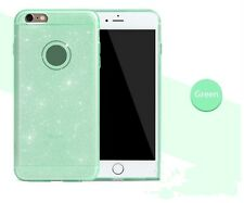 Etui Coque Iphone 6 6s Bling Paillettes Vert Green Case Backcover Silicone