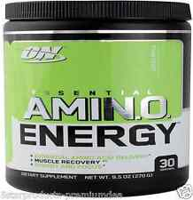 NEW OPTIMUM NUTRITION ESSENTIAL AMINO ACID ENERGY GREEN APPLE 270g 9.5oz
