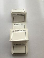 Pack Of 10 Next Service Due Labels Self Adhesive Vinyl Stickers