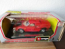 Vintage Burago 1/24 scale model car 1965 Ferrari 250 LeMans Diecast