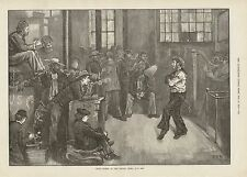 1873 EAST END LONDON AFTER DINNER AT THE SAILORS HOME DANCING