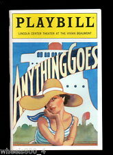 Broadway Playbill ANYTHING GOES Lincoln Center Theatre at Vivian Beaumont Exc.