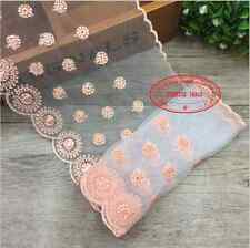 1 yard Embroidered flowers Net Lace trim Ribbon Handicrafts Sewing Crafts FL162