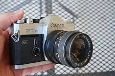 Canon FTb 35mm Film Camera Rexagon 35mm F/2.8 Prime lens SLR Student Set Kit