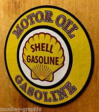 Shell Oldschool Motoroil Aufkleber Hotrod Sticker vintage Rockabilly Muscle Car
