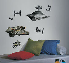 New Giant STAR WARS REBEL AND IMPERIAL SHIPS WALL DECALS Boys Stickers Decor
