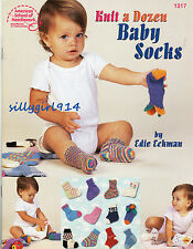 """""""BABY SOCKS""""~Knit PATTERN BOOK ONLY~12 Great Designs~SEE PICTURES"""
